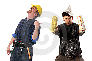 Construction worker and house painter