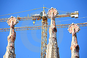 Broaches And Spires, Sagrada Famila In Barcelona Stock Images - Image: 5395874