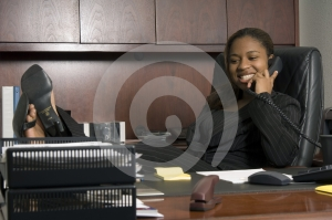 Stock Photos - She's the boss