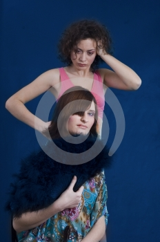 Poor Rich Girls Royalty Free Stock Photography - Image: 543527