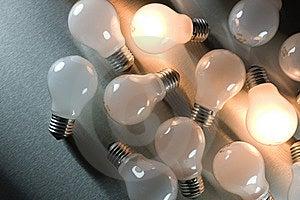 Series Of Lightbulbs Stock Image - Image: 5401311