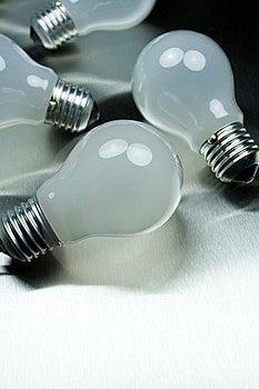 Series Of Lightbulbs Stock Photos - Image: 5401343