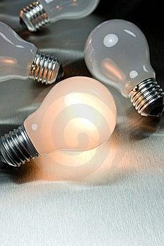 Series Of Lightbulbs Stock Photography - Image: 5401352
