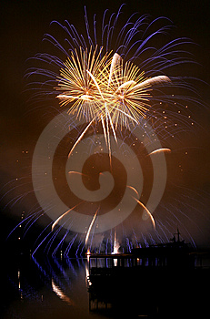 Fireworks Ignis Brunensis Royalty Free Stock Photography