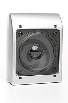 Loudspeakers On A White Stock Photo - Image: 5406110