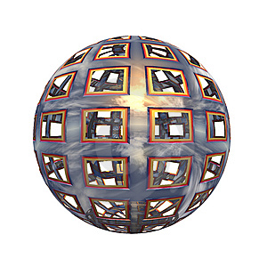 Spherical 3D Button Stock Photos - Image: 5409203