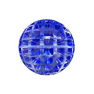 Botão De Sherical 3D Fotografia de Stock Royalty Free - Imagem: 5409297