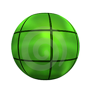 Spherical 3D Button Royalty Free Stock Images - Image: 5409609