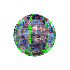 Spherical 3D Button Stock Image - Image: 5409621