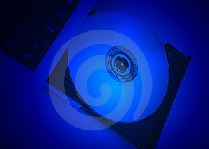 Disc Drive Cd-rom Blue Movie Stock Photography - Image: 5410982