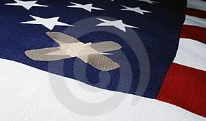 Hurt Flag Royalty Free Stock Image - Image: 5412246