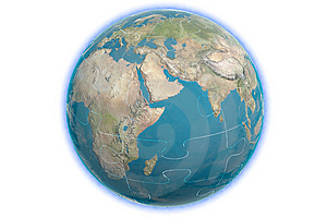 Earth Puzzle 1 Stock Photos - Image: 5412673