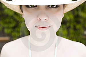 Eyes Under The Hat Royalty Free Stock Image - Image: 5413376