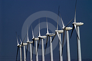 Wind Electricity Stock Photo - Image: 5415080