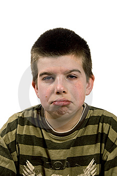 Boy Is Looking Sad Royalty Free Stock Images - Image: 5420659