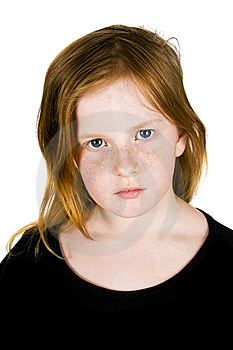 Sad Looking Girl Royalty Free Stock Photography - Image: 5420747
