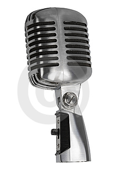 Beautiful old microphone Stock Image