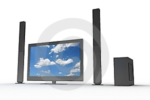 Stylish Home Cinema Set  Stock Photo - Image: 5422420