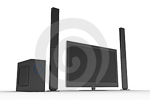 Stylish Home Cinema Set Stock Image - Image: 5422431