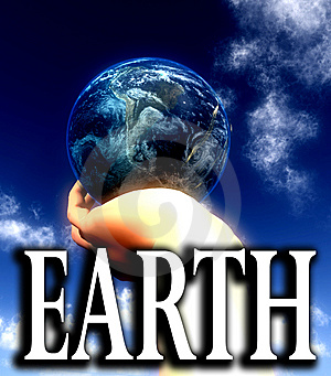 Earth Word  Stock Photo - Image: 5422990