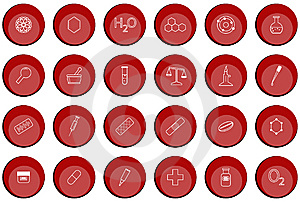 Chemistry Buttons Stock Photography - Image: 5424642