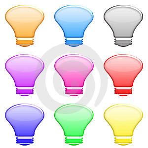 Light Bulb Set Royalty Free Stock Photography - Image: 5425197