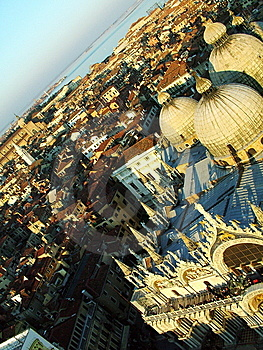 Roofs Of Venice, Sunset Royalty Free Stock Image - Image: 5428386