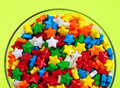 Candy stars in dish