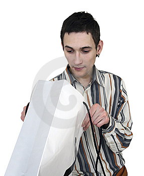 Man With A Package Stock Photos - Image: 5432143