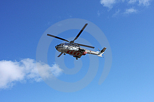 Helicopter Flying Royalty Free Stock Images - Image: 5432859