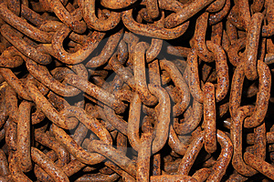 Rusty Chain Royalty Free Stock Photography - Image: 5433387