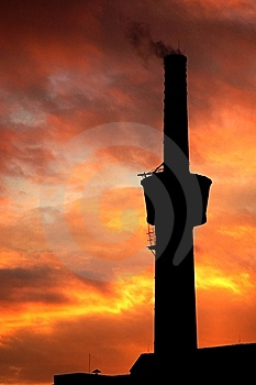 A Chimney At Sunset Stock Photos - Image: 5435893