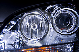 Car Headlight Stock Image - Image: 5436691