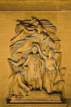 Sculpture From Triumph Arch In Paris Stock Photography - Image: 5437182