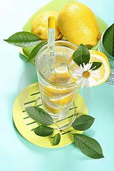 Glass Of Fresh Water With Lemon Stock Images - Image: 5439884
