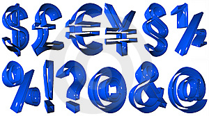 High Resolution 3D Symbols Royalty Free Stock Image - Image: 5439946