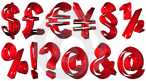 High Resolution 3D Symbols Royalty Free Stock Images - Image: 5440129