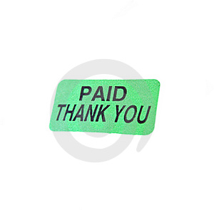 Paid, Thank You Stock Photo - Image: 5440220