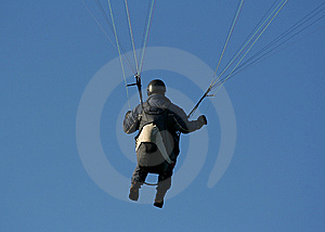 Paraglider In Action Royalty Free Stock Photos - Image: 5440638