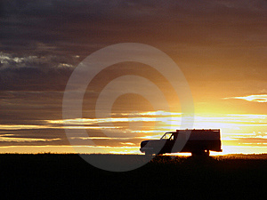 Old Vehicle At Sunset Royalty Free Stock Image - Image: 5441656