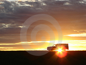 Old Vehicle At Sunset Royalty Free Stock Image - Image: 5441676