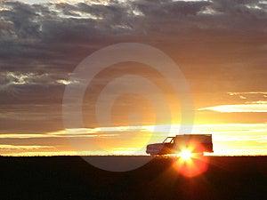 Old Vehicle At Sunset Royalty Free Stock Image - Image: 5441676