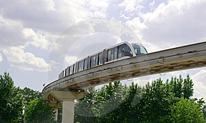 Monorail Track Royalty Free Stock Photography - Image: 5443237
