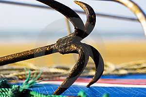 The Anchor On The Coast Stock Image - Image: 5445621