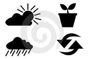 Vector Logo Elements Set Envir Stock Photos - Image: 5446273