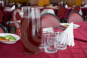 Served Tables In Restaurant Royalty Free Stock Photo - Image: 5446295