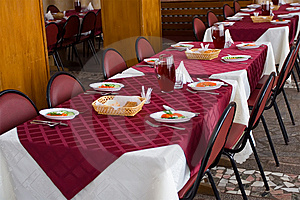 Served Tables In Restaurant Stock Photography - Image: 5446322