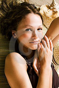 Relaxing On The Beach Stock Photo - Image: 5447110