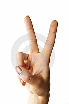 Victory Gesture Royalty Free Stock Photo - Image: 5450255