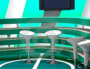Furniture For A Bar In Green Tones Stock Photography - Image: 5450712
